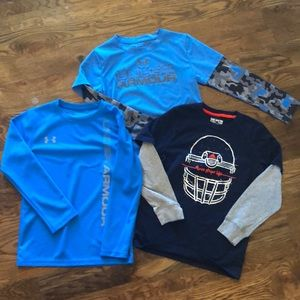 3 long sleeve active Under Armour/Addidas shirts